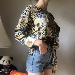 Barocco satin blouse, Versace alike
